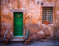 Green Alley Door