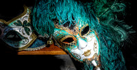 Mask with Blue Feathers